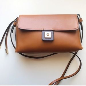 Zara brown Crossbody messenger purse bag